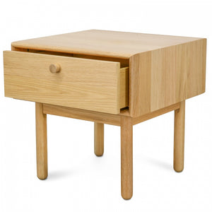 Lamp Side Table with Drawer - Natural - Notbrand