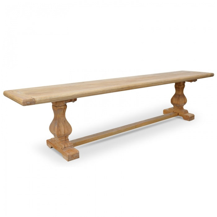 Troy Reclaimed Elm Wood Bench - Natural - Notbrand