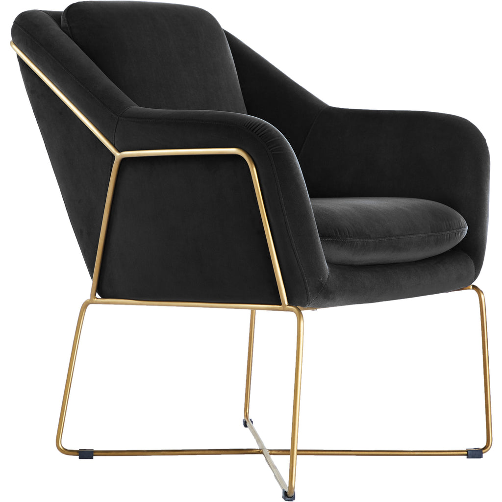 Trapani Black Velvet Chair - Notbrand