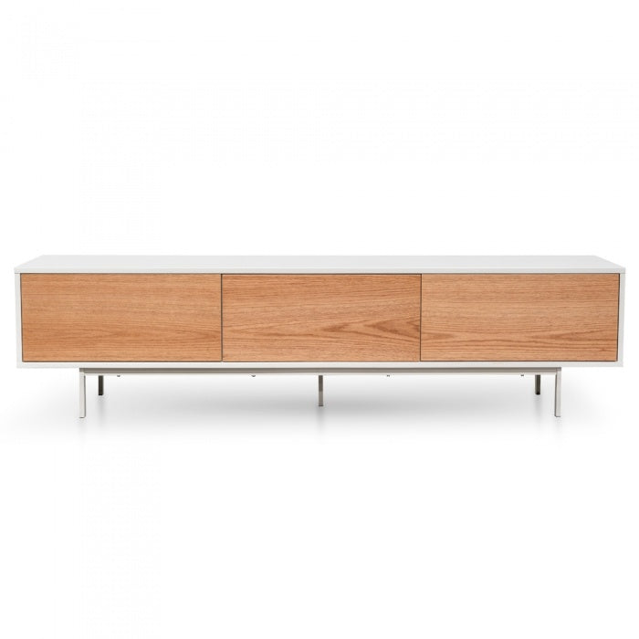 Molly Entertainment TV Unit White - Natural 2m - Notbrand