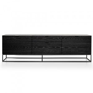 Wino Entertainment TV Unit - Black Veneer 180cm - Notbrand