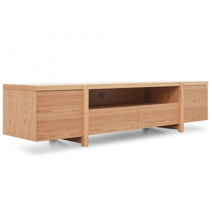 James Lowline Entertainment TV Unit Full Natural - Timber Legs - Notbrand