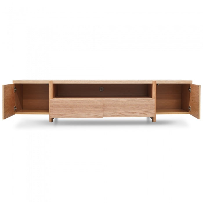 James Lowline Entertainment TV Unit Full Natural - Timber Legs
