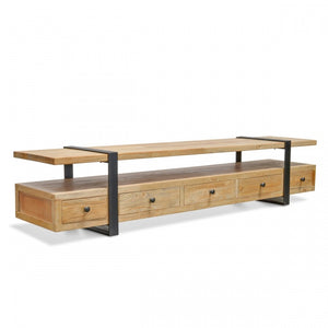Lenard Reclaimed Lowline 2.2m TV Entertainment Unit - Notbrand