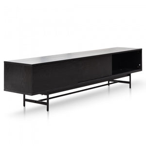 Fia Wooden Entertainment TV Unit - Full Black 2.1m - Notbrand