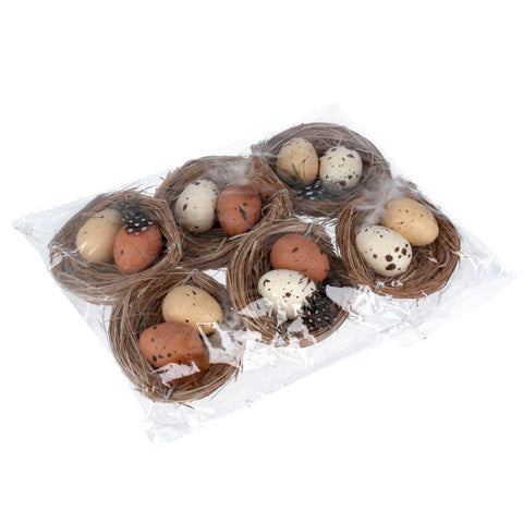 Gisela-graham-set-of-six-easter-nests-with-eggs
