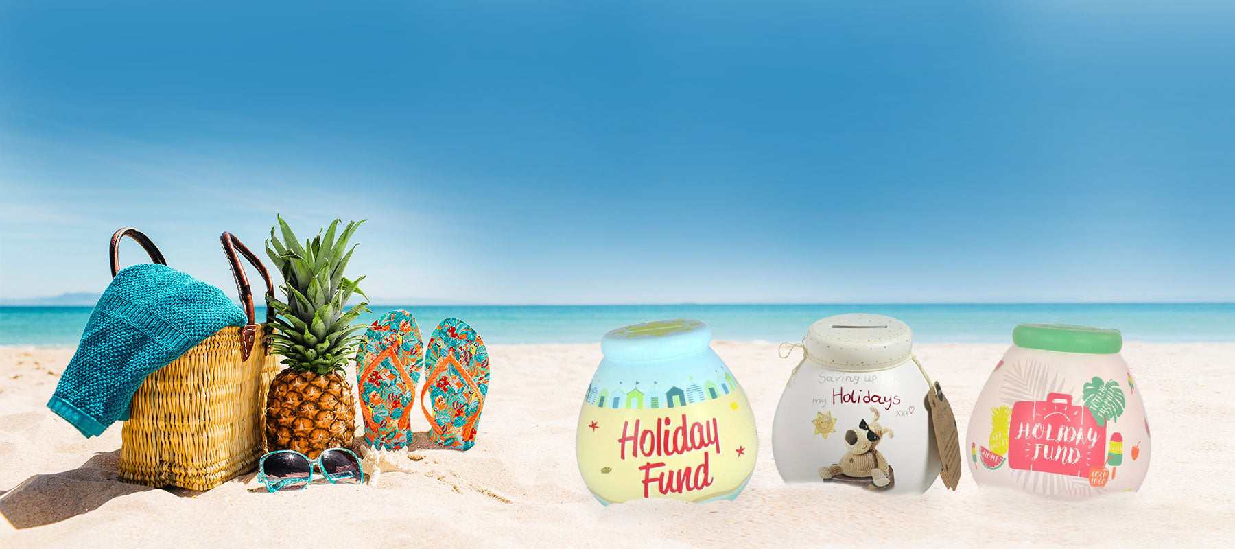 Shop our new in holiday pots and save for your next adventure