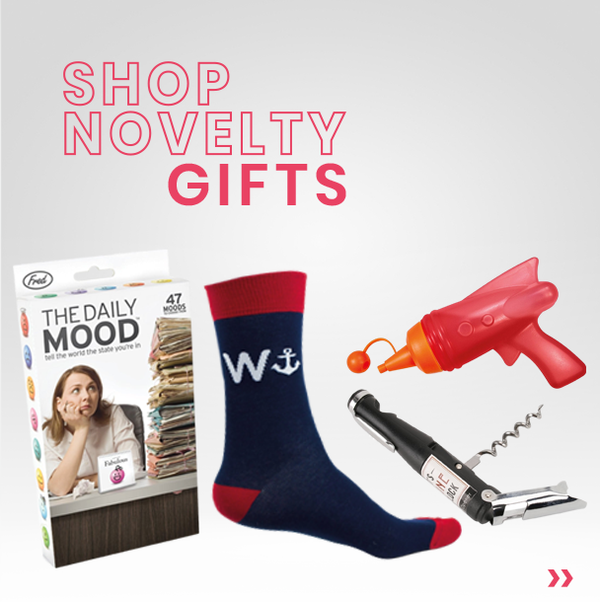 shop novelty gifts here at mollie and fred