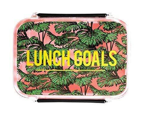 Alice Scott Lunch Bags, Boxes & Tins Lunch Goals Botanical Design Lunch Box