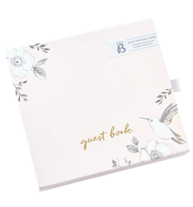 BusyB Guest Books Wedding Guest Message Cards with Keepsake Box