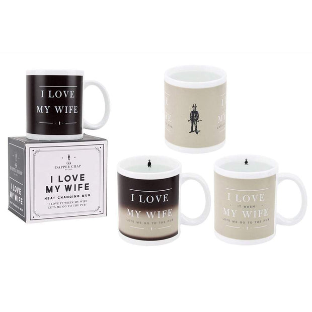 CGB Giftware Mugs & Drinkware 'I Love My Wife' Heat Changing Mug