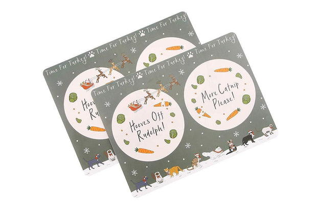 CGB Giftware Pet Accessories Time For Turkey! Placemat for Cats