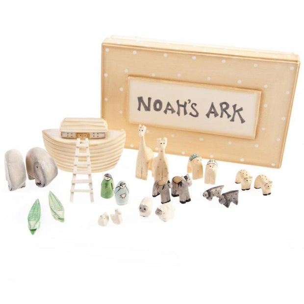 East of India Childrens Toys and Games Boxed Mini Noah's Ark Wooden Gift Set