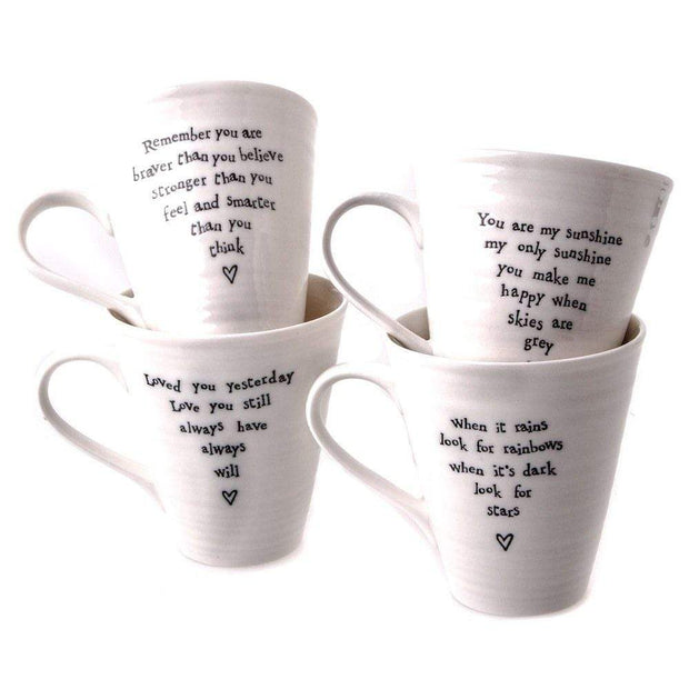 East of India Mugs & Drinkware Remember You Are Braver Than You Believe Porcelain Mug