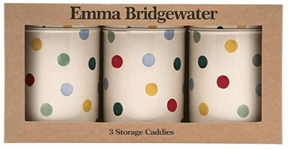 Emma Bridgewater Storage Tins Emma Bridgewater Set of 3 Tea, Coffee, Sugar Caddies