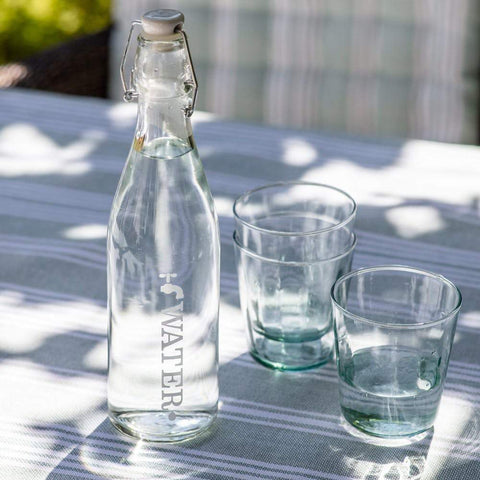 Garden Trading Water bottle Tap Water Small Glass Bottle