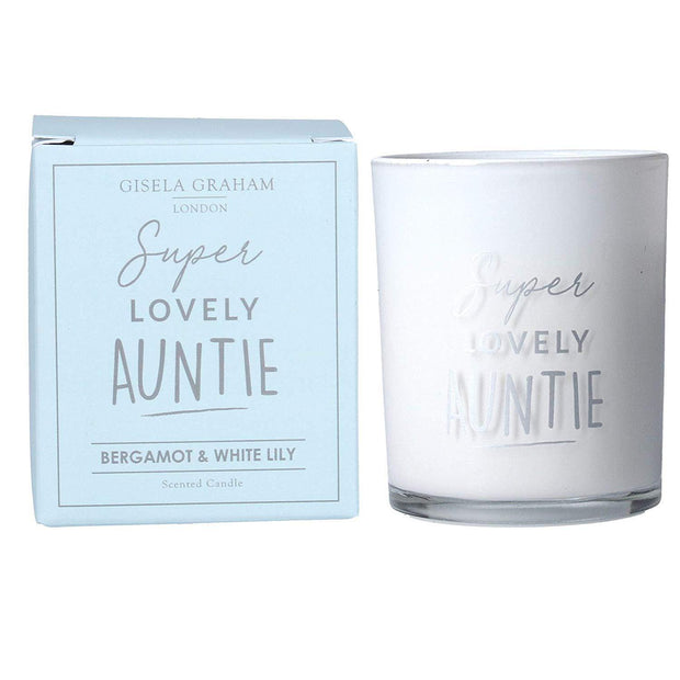 Gisela Graham Candles & Diffusers Lovely Auntie Bergamont & White Lily Scented Candle