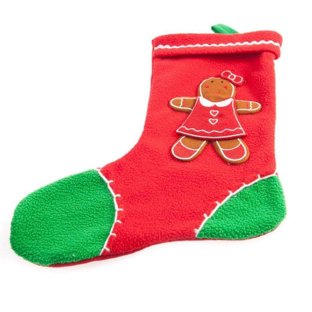 Gisela Graham Christmas Christmas Decorations Gingerbread Girl Fleece Christmas Stocking