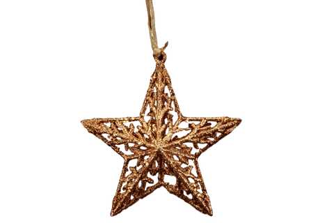 Gisela Graham Christmas Christmas Decorations Golden Star Christmas Tree Feature Decoration