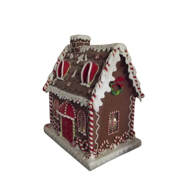 Gisela Graham Christmas Christmas Decorations Luxury Extra Large Light Up Gingerbread House Ornament
