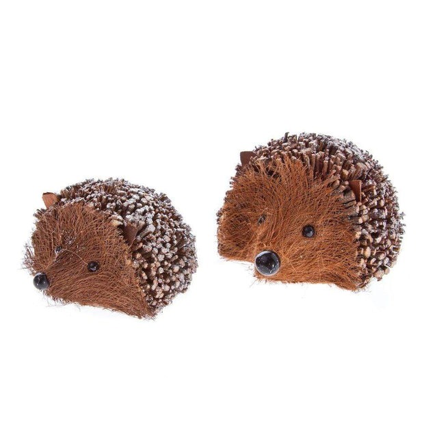 Gisela Graham Christmas Christmas Decorations Pair of Glittery Twig Hedgehog Decorations