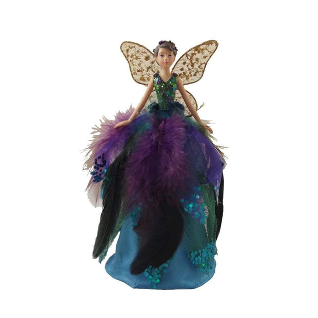 Gisela Graham Christmas Christmas Decorations Peacock Fairy Tree Topper