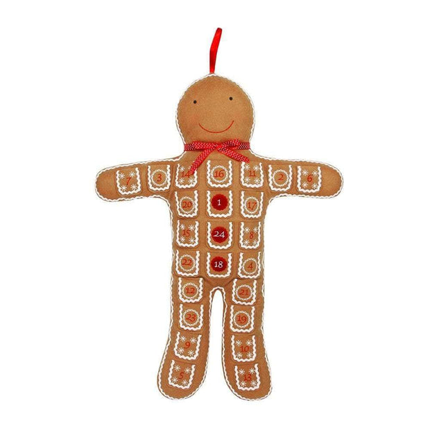 Gisela Graham Christmas Christmas Decorations, Perpetual Calendars Christmas Gingerbread Man Advent Calendar