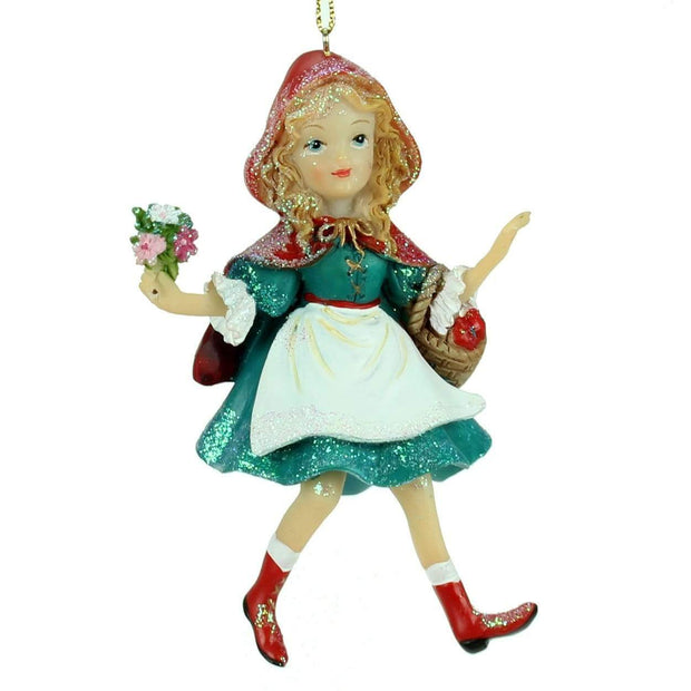 Gisela Graham Christmas Christmas Decorations Resin Red Riding Hood Hanging Decoration