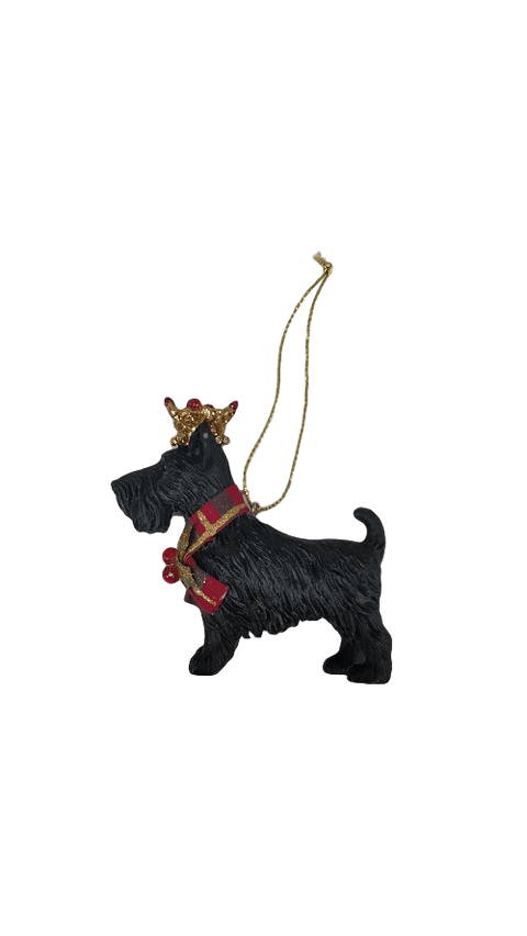 Gisela Graham Christmas Christmas Decorations Resin Scottie Dog Christmas Tree Decoration