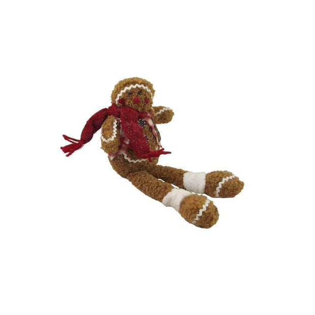 Gisela Graham Christmas Christmas Decorations Weighted Gingerbread Man Mantle Decoration