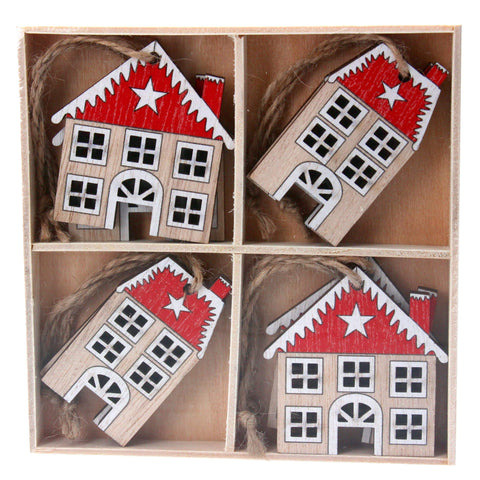Gisela Graham Christmas Christmas Decorations Set of 8 Christmas House Decorations