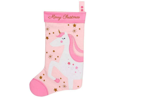 Gisela Graham Christmas Stockings Merry Christmas Unicorn Felt Stocking