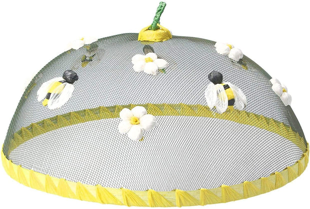 Gisela Graham Easter food cover Bee & Flower Mesh Food Cover