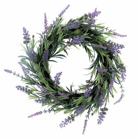 Gisela Graham Easter easter wreath Copy of Blue and Purple Lavender Wicker Wreath