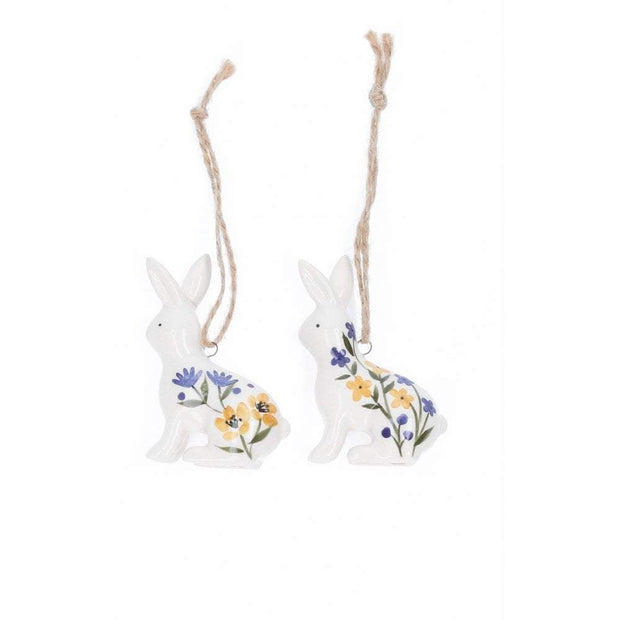 Gisela Graham Easter Easter Decorations Ceramic Easter Bunny Tree Decorations