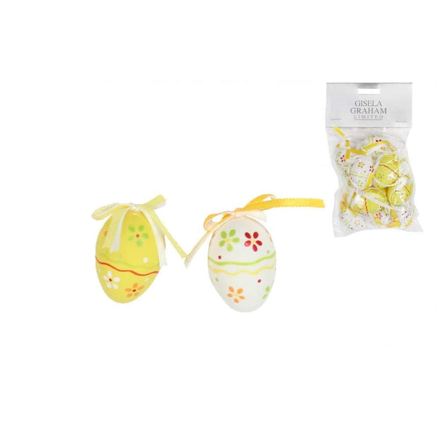 Gisela Graham Easter Easter Decorations Set of 12 Yellow Easter Tree Decorations