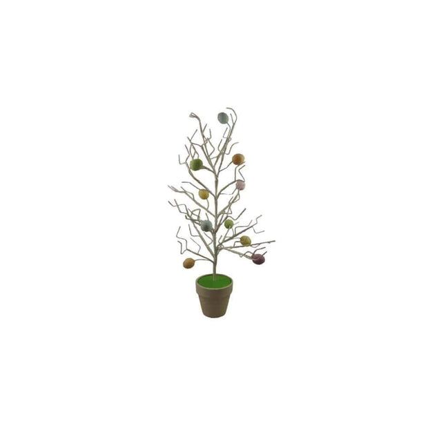 Gisela Graham Easter Easter Decorations White Twig Tree with Eggs