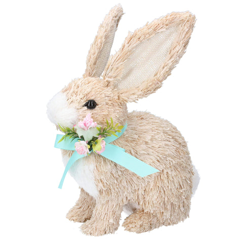 Gisela Graham Easter Easter Decorations Standing Bristle Bunny Easter Decoration