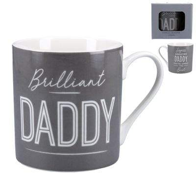 Gisela Graham Mugs & Drinkware Brilliant Daddy Dark Grey Mug in Gift Box