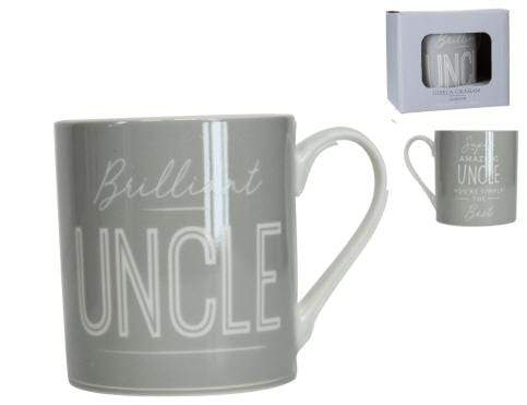 Gisela Graham Mugs & Drinkware Brilliant Uncle Grey Mug in Gift Box