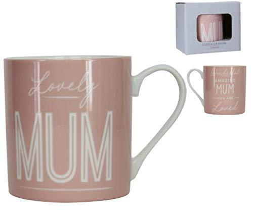 Gisela Graham Mugs & Drinkware Lovely Mum Baby Pink Mug in Gift Box
