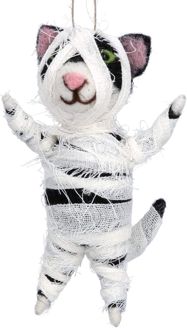 Gisela Graham Halloween Decoration Mummy Cat Hanging  Halloween Decoration