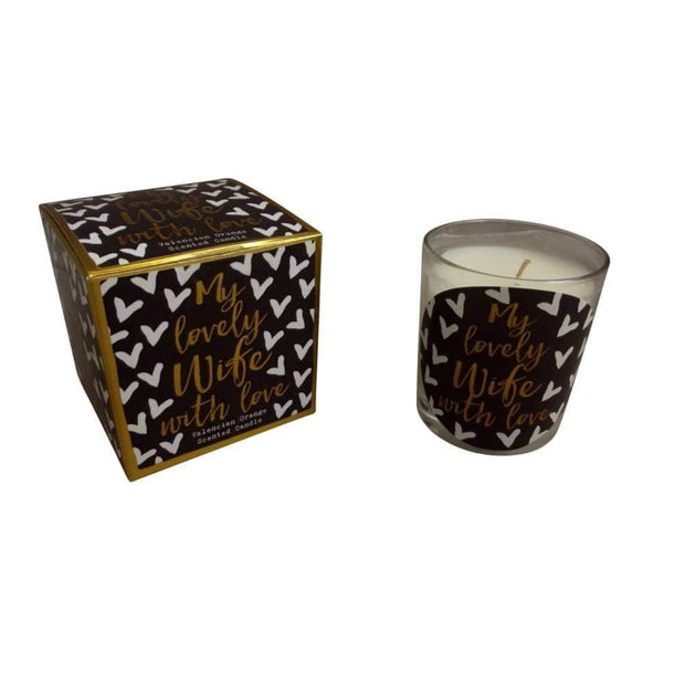 Hammond Gowler Candles & Diffusers 'My lovely Wife With Love' Scented Candle