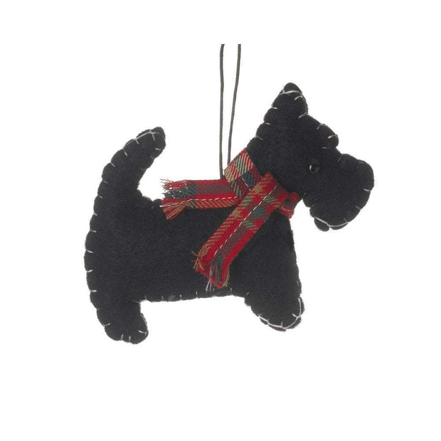 Heaven Sends Christmas Christmas Decorations Felt Scottie Dog Christmas Tree Decoration