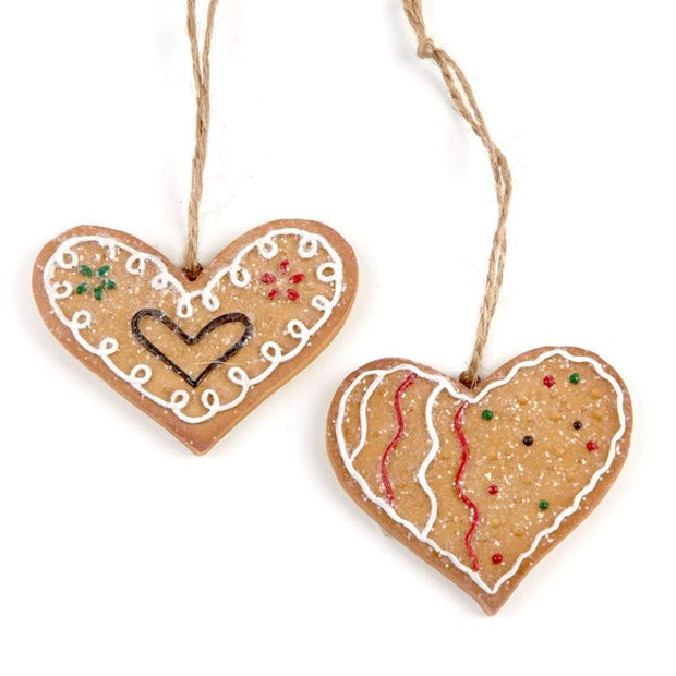 Heaven Sends Christmas Christmas Decorations Gingerbread Glittery Heart DecorationS