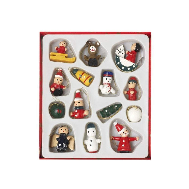 Heaven Sends Christmas Christmas Decorations Wooden Miniature Christmas Tree Decorations