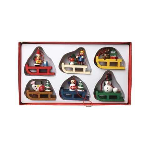 Heaven Sends Christmas Christmas Decorations Wooden Sleigh Decoration Set