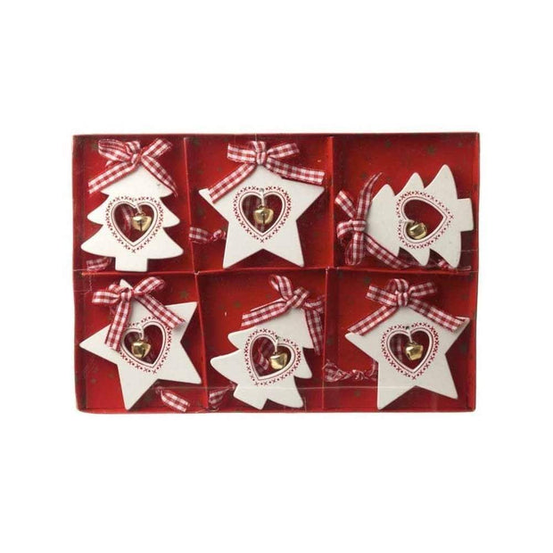 Heaven Sends Christmas Christmas Decorations Wooden Star and Tree Decoration Set