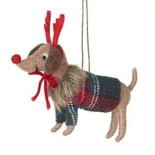 Heaven Sends Christmas Christmas Decorations Felt Dog Christmas Tree Decoration