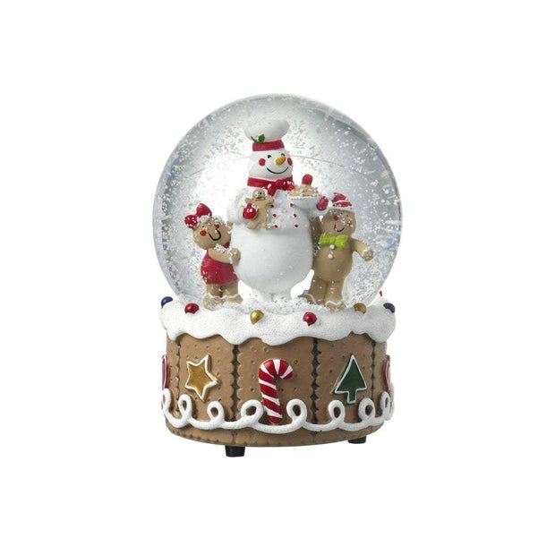 Heaven Sends Christmas Snow Globes, Christmas Decorations Gingerbread Musical Snowglobe